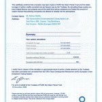 Carbon Offset Certificate 2007