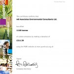 Carbon Offset Certificate 2010