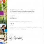 Carbon Offset Certificate 2012