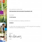 Carbon Offset Certificate 2013