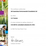 Carbon Offset Certificate 2011