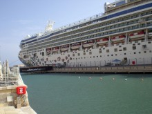Cruise ship at Valletta Waterfront