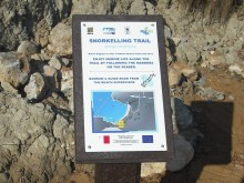 Snorkelling signpost
