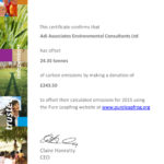 Carbon Offset Certificate 2015