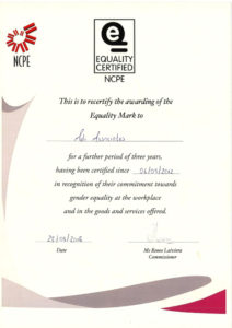 Equality Mark Certificate 2018