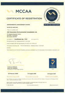 ISO 14001 Certificate 2018
