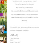 Carbon Offset Certificate 2018