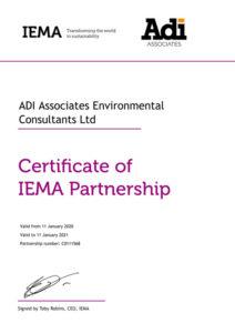 IEMA Certificate 2020