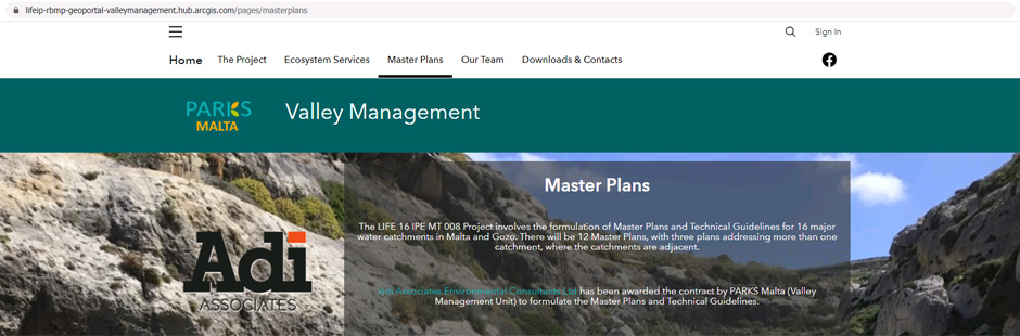 Parks Valley Management website